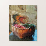Basket of Yarn and Tapestry Jigsaw Puzzles