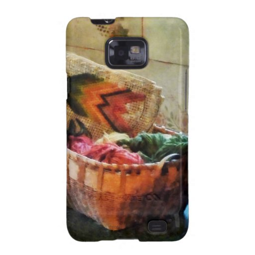 Basket of Yarn and Tapestry Samsung Galaxy S2 Case