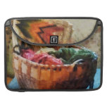 Basket of Yarn and Tapestry Sleeves For MacBooks