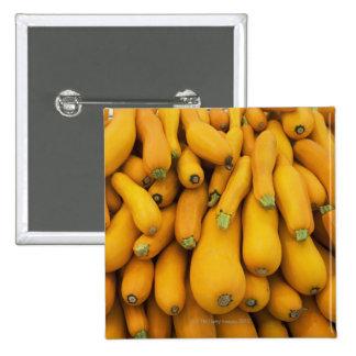 Basket of yellow zucchini pinback button