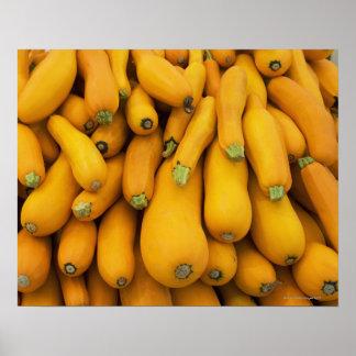 Basket of yellow zucchini poster