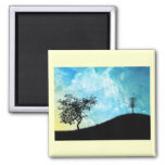 Basket On A Hill #2 2 Inch Square Magnet