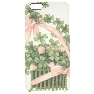 Basket Pink Ribbon Shamrock Four Leaf Clover Clear iPhone 6 Plus Case