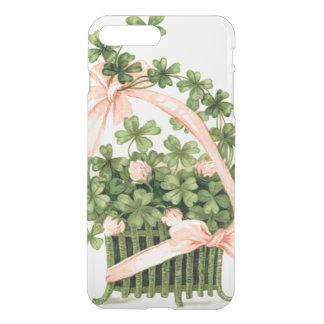 Basket Pink Ribbon Shamrock Four Leaf Clover iPhone 7 Plus Case