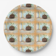 basket pumpkin paper plates 9 inch paper plate
