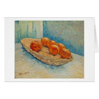 Basket, Six Oranges (F395) Van Gogh Fine Art Card