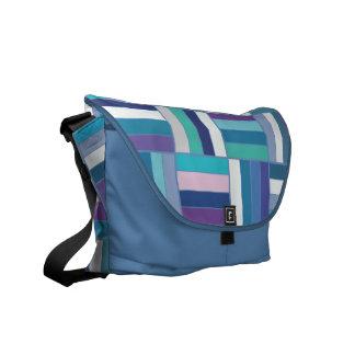 Basket Weave Blue Courier Bag
