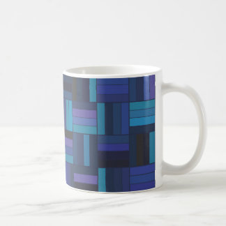 Basket Weave Dark Blue Coffee Mug