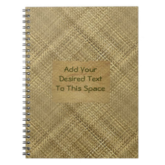Basket Weave Effect Customizable Cover Text Spiral Notebook