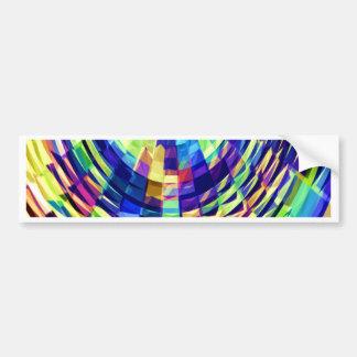 Basket Weave - Magical Diamond Raibow V1 Bumper Sticker