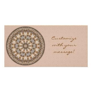 Basket Weave Mandala Photo Card