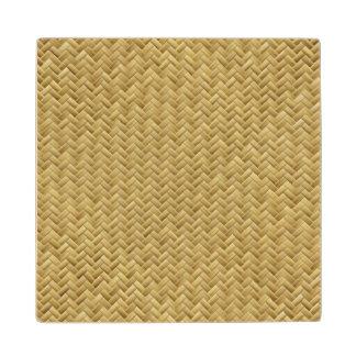 Basket Weave Maple Wood Coaster