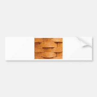 Basket weave pattern bumper sticker