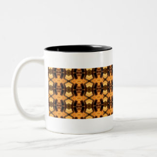 Basket Weave Pattern Two-Tone Coffee Mug