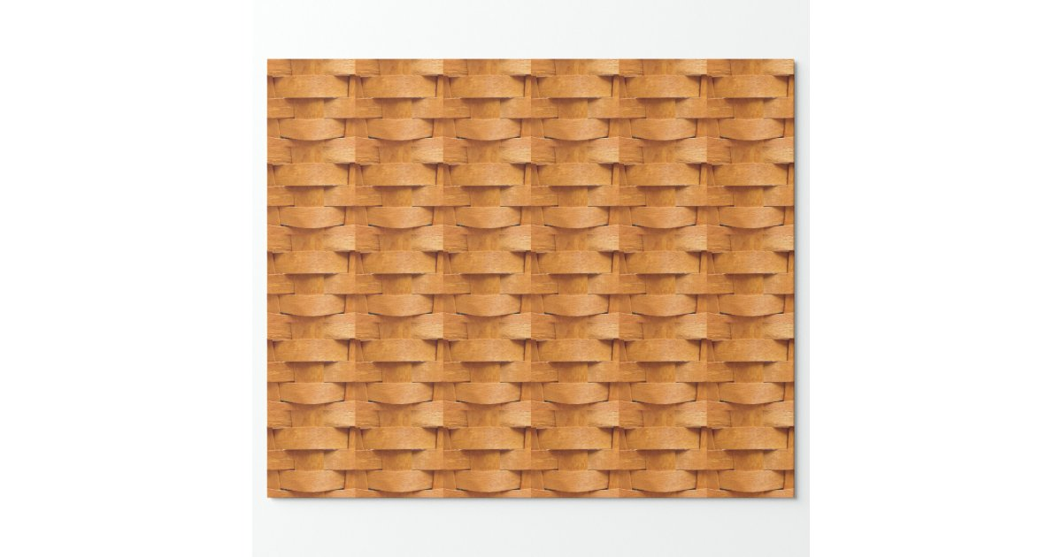 How To Weave A Basket Using Paper : Basket weave pattern wrapping paper zazzle