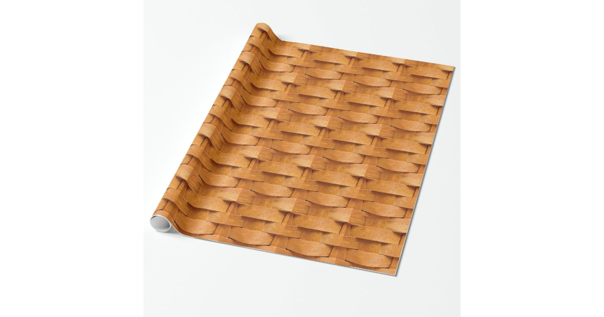 Paper Basket Weaving Supplies : Basket weave pattern wrapping paper zazzle