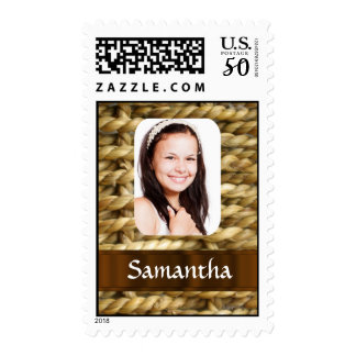 Basket weave photo template postage