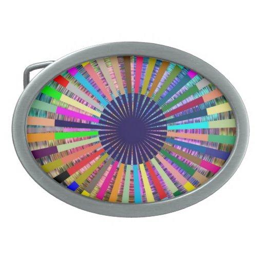 Basket Weave -   Source Sparkle Beam Oval Belt Buckle