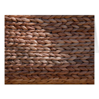 Basket weave texture card