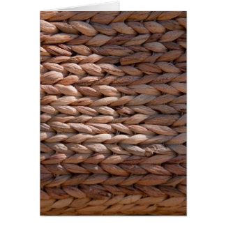Basket weave texture card