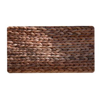 Basket weave texture label