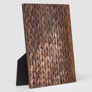 Basket weave texture plaques
