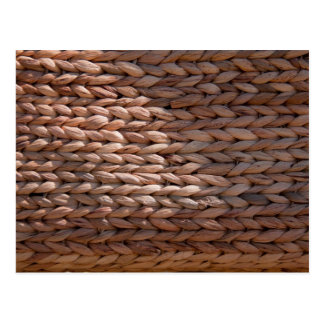Basket weave texture postcard