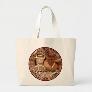Basket Weavers Do It With Fiber - Women Weavers Large Tote Bag