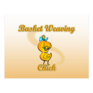 Basket Weaving Chick Post Card