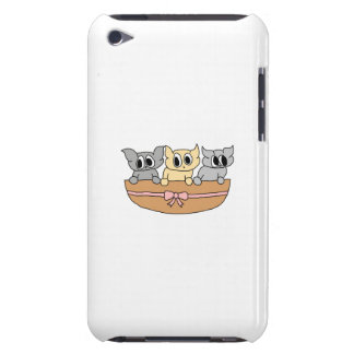 Basket with 3 Kittens, Cartoon. iPod Touch Case