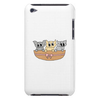 Basket with 3 Kittens, Cartoon. iPod Touch Cases