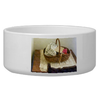 Basket With Cloth and Measuring Tape Bowl