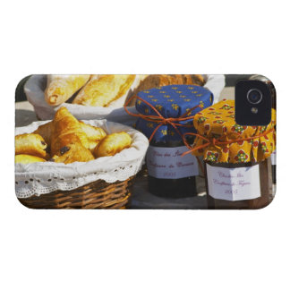 Basket with croissants and chocolate breads. iPhone 4 cases