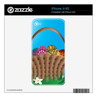 Basket with easter eggs decal for the iPhone 4S