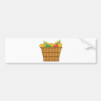 Basket with fruits and vegetables vector bumper sticker