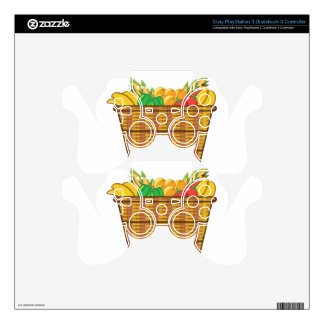 Basket with fruits and vegetables vector PS3 controller decal