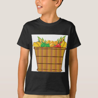 Basket with fruits and vegetables vector T-Shirt