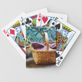 Basket With Knitting Bicycle Playing Cards