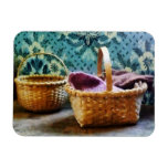 Basket With Knitting Magnet