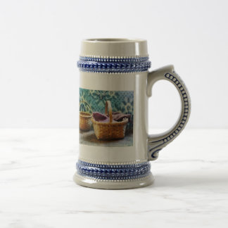 Basket With Knitting 18 Oz Beer Stein
