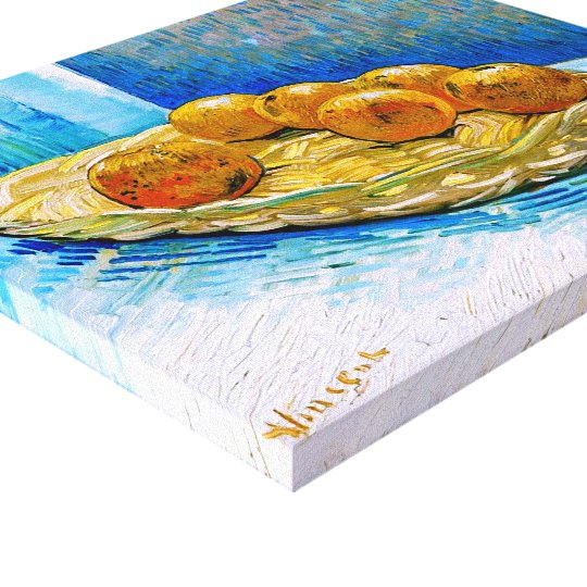 Basket with Six Oranges Van Gogh Fine Art Canvas Print