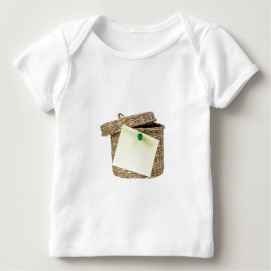 Basket with sticky note baby T-Shirt