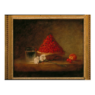 Basket with Wild Strawberries, c.1761 Postcard