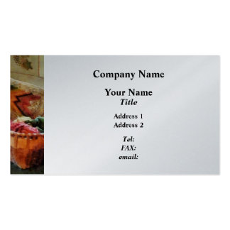 Basket With Yarn and Tapestry - Platinum Double-Sided Standard Business Cards (Pack Of 100)