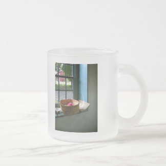 Basket with Yarn 10 Oz Frosted Glass Coffee Mug