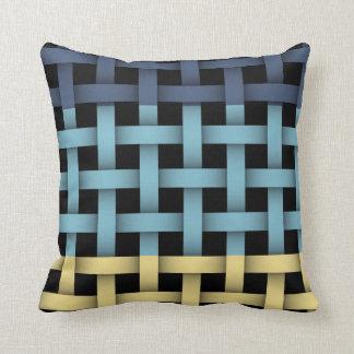 Basket woven plaid pattern cushion