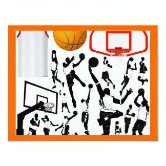 basketball2 4.25x5.5 paper invitation card