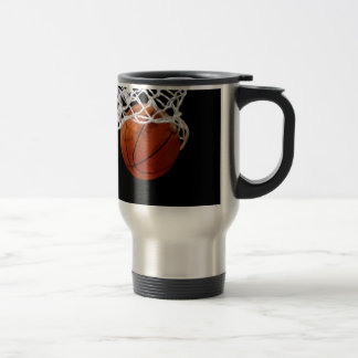 Basketball 15 Oz Stainless Steel Travel Mug
