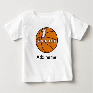 Basketball 1 Month Baby Shirt for Baby Pictures