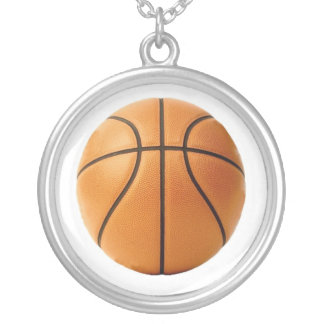 Basketball[1] Round Pendant Necklace